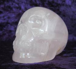 Little Indian Princess, a brazilian rose quartz skull