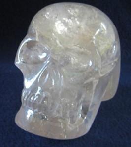 Portal de Luz - a smoky quartz skull made by a Brazilian carver