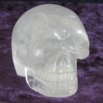 Atahualpa, a clear quartz skull made in Brazil