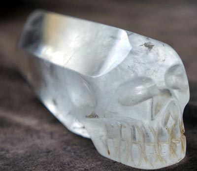 Clear Quartz Pointed Skulll