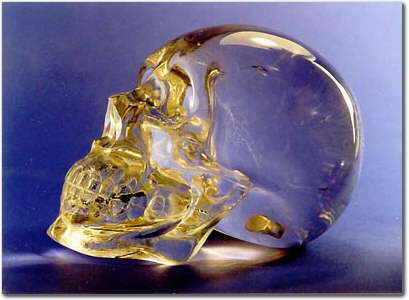 Crystal Skull carved in Germany by a master Carver in Edar-Oberstein