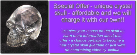 A Crystal  Skull from Brazil  for Sale and Charged by our own Crystal Skulls