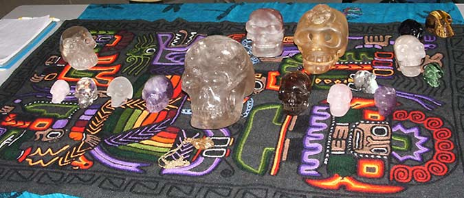 Our Crystal Skulls displayed in Calgary with Friends